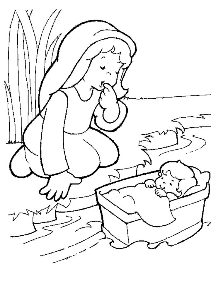 How To Draw Moses Burning Bush Coloring Page